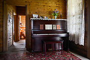 10162247A DYESS, Ark. - Aug. 11, 2014 - The same upright piano sits in the living room of the refurbished Johnny Cash Boyhood Home. CREDIT William DeShazer for the New York Times