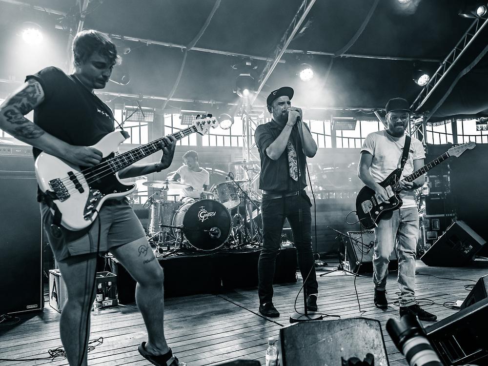 German post-punk band Love A at Haldern Pop Festival