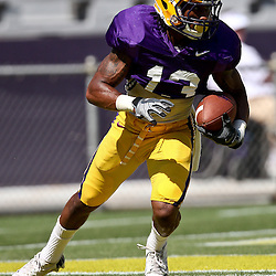 April 9, 2011; Baton Rouge, LA, USA; LSU Tigers kick returner Ron Brooks (13)  during the 2011 Spring Game at Tiger Stadium.   Mandatory Credit: Derick E. Hingle