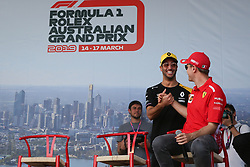 March 16, 2019 - DANIEL RICCIARDO and SEBASTIAN VETTEL attending the F1 Driver Q&A Panel on Qualifying Saturday at the 2019 Formula 1 Australian Grand Prix on March 16, 2019 In Melbourne, Australia  (Credit Image: © Christopher Khoury/Australian Press Agency via ZUMA  Wire)
