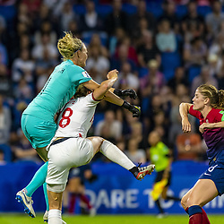 June 27, 2019 - Le Havre, França - LE HAVRE, SM - 27.06.2019: NORWAY VS ENGLAND - Ingrid Hjelmseth of Norway and Ellen White of England during a match between England and Norway. World Cup Qualification Football. FIFA. Held at the Oceane Stadium in Le Havre, France  (Credit Image: © Richard Callis/Fotoarena via ZUMA Press)