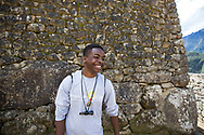Parker Smith, 15, is all smiles as he explores the ancient ruins.