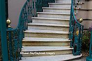 66512-00106 Iron fence on stairs on John Rutledge House Inn Bed & Breakfast, Charleston, SC