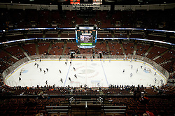 View on arena during ice-hockey match between Anaheim Ducks and Los Angeles Kings in NHL league, Februar 23, 2011 at Honda Center, Anaheim, USA. (Photo By Matic Klansek Velej / Sportida.com)