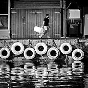 Bergen fish market reflections v2, Bergen, Norway (July 2006)