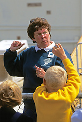 Volunteer Talking With Children, The Marine Mammal Center