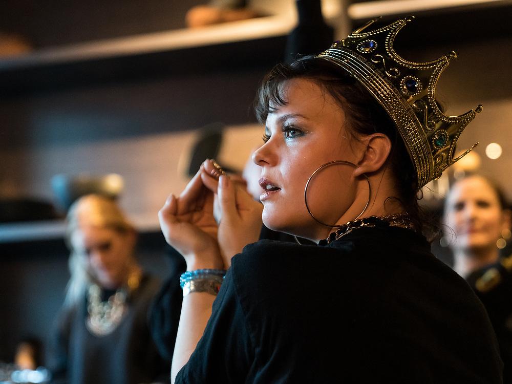 Þuríður Blær of Icelandic all-female hip-hop collective Reykjavíkurdætur at Iceland Airwaves