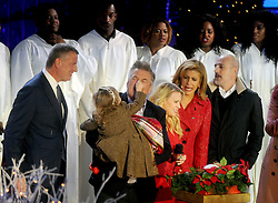 Mayor of New York City Bill de Blasio, Alec Baldwin, Kate McKinnon, Matt Lauer attend the annual Christmas Tree Lighting Ceremony at the Rockefeller Center in New York City, NY, USA, on November 30, 2016. Thousands of revelers crowded the sidewalks for the event. The Tree will remain lit and can be viewed until 9pm on January 7, 2017. Photo by Dennis Van Tine/ABACAPRESS.COM