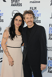 Giada Colagrande and Willem Dafoe at the 35th Annual Film Independent Spirit Awards held at the Santa Monica Beach in Santa Monica, USA on February 8, 2020.