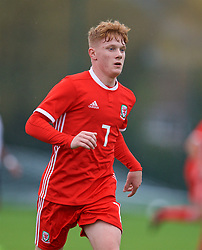 NEWPORT, WALES - Monday, October 14, 2019: Wales' Sam Pearson during an Under-19's International Friendly match between Wales and Austria at Dragon Park. (Pic by David Rawcliffe/Propaganda)