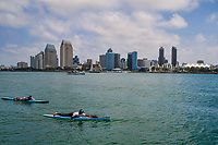 Paddleboarding on San Diego Bay