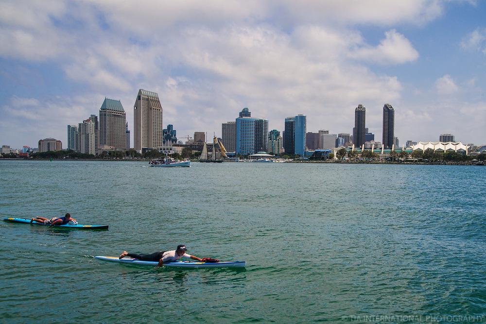 Paddleboarding on San Diego Bay