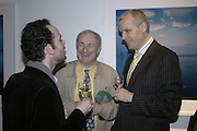 Pete Rae, Paul Gambaccini and Ben Summerskill, Colman Getty's 20th Birthday party. The Imagination Gallery. Store St. London W1. 17 January 2006.  -DO NOT ARCHIVE-© Copyright Photograph by Dafydd Jones. 248 Clapham Rd. London SW9 0PZ. Tel 0207 820 0771. www.dafjones.com.
