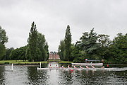 Henley Royal Regatta, Henley on Thames, Oxfordshire, 3-7 July 2013.  Wednesday  09:12:49   03/07/2013  [Mandatory Credit/Intersport Images]<br /> <br /> Rowing, Henley Reach, Henley Royal Regatta.<br /> <br /> The Princess Elizabeth Challenge Cup<br /> Radley College<br /> Passing Fawley