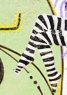 PANAMA, PANAMA - SEPTEMBER 21: Colorful graffiti mural. September 21, 2011.  Panama, Panamá. (Photo: Rubén Alfú / Istmophoto)