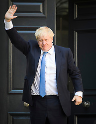 © Licensed to London News Pictures. 23/07/2019. London, UK. BORIS JOHNSON is seen arriving at Conservative Party headquarters. Today the Conservative Party Elected Boris Johnson as their new leader and Prime Minister, following Theresa May's announcement that she will step down. Photo credit: Ben Cawthra/LNP