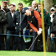 Wales' Philip Price chips onto the green