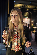 Sophie Kennedy Clark, Party to celebrate Vanity Fair's very British Hollywood issue. Hosted by Vanity Fair and Working Title. Beaufort Bar, Savoy Hotel. London. 6 Feb 2015