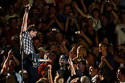 Keith Urban performs in the middle of fans during the CMA Fan Festival Friday, June 10, 2011 in Nashville, Tenn. (AP Photo/Wade Payne)