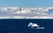 Glaciers and mountains at Arctowski Peninsula (Danco Coast) on the western side of the Antarctic Peninsula