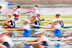 August 3, 2018 - Glasgow, UNITED KINGDOM - 180803 Athletes of Great Britain compete in the Women's Rowing Four repechage during the European Championships on August 3, 2018 in Glasgow..Photo: Jon Olav Nesvold / BILDBYRÃ…N / kod JE / 160281 (Credit Image: © Jon Olav Nesvold/Bildbyran via ZUMA Press)