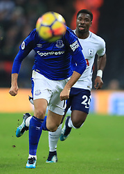 13 January 2018 -  Premier League - Tottenham Hotspur v Everton - Cenk Tosun of Everton in action with Serge Aurier of Tottenham Hotspur - Photo: Marc Atkins/Offside