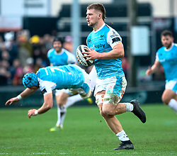 Olly Cracknell of Ospreys makes a break<br /> <br /> Photographer Simon King/Replay Images<br /> <br /> Guinness PRO14 Round 12 - Dragons v Ospreys - Sunday 30th December 2018 - Rodney Parade - Newport<br /> <br /> World Copyright © Replay Images . All rights reserved. info@replayimages.co.uk - http://replayimages.co.uk
