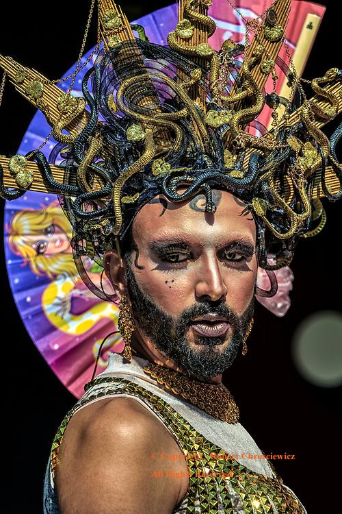 Methuselah: Methuselah makes a grand entrance at the annual Gay Pride Parade, Vancouver British Columbia Canada.