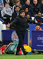 Walter Mazzarri , the manager of Watford on the touchline. Premier league match, Leicester City v Watford at the King Power Stadium in Leicester, Leicestershire on Saturday 6th May 2017.<br /> pic by Bradley Collyer, Andrew Orchard sports photography.