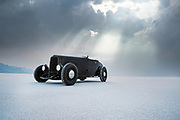 Image of a black hot rod racecar at Speed Week 2018 at the Bonneville Salt Flats, Utah, American Southwest by Randy Wells