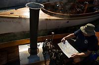 Steamboating at Lees Mill in Moultonboro.  ©Karen Bobotas Photographer