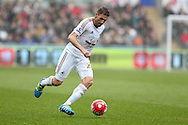 Angel Rangel of Swansea city in action. Barclays Premier league match, Swansea city v Liverpool  at the Liberty Stadium in Swansea, South Wales on Sunday 1st May 2016.<br /> pic by  Andrew Orchard, Andrew Orchard sports photography.