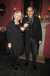 BETTY JACKSON and DAVID COHEN at a dinner hosted by Ruinart in honour of artist Natasha Law held at Soho House, 21 Old Compton Street, London on 16th January 2008.<br /> <br />  (EMBARGOED FOR PUBLICATION IN UK MAGAZINES UNTIL 1 MONTH AFTER CREATE DATE AND TIME) www.donfeatures.com  +44 (0) 7092 235465