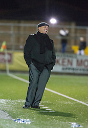 Arbroath's manager Dick Campbell after a Forfar Athletic's miss. Forfar Athletic 0 v 1 Arbroath, Scottish Football League Division Two game played 10/12/2016 at Station Park.