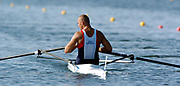 20040814 Olympic Games Athens Greece Olympic Regatta <br /> Photo  Peter Spurrier <br /> CZE M1X Vaclav Chulupa. <br /> email;  images@intersport-images.com<br /> Tel +44 7973 819 551<br /> <br /> <br /> <br /> [Mandatory Credit Peter Spurrier/ Intersport Images]