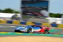 June 17, 2017 - Le Mans, Sarthe, France - Ford Chip Ganassi Team USA Michelin Ford GT.JOEY HAND (USA) in action during the race of the 24 hours of Le Mans on the Le Mans Circuit - France (Credit Image: © Pierre Stevenin via ZUMA Wire)