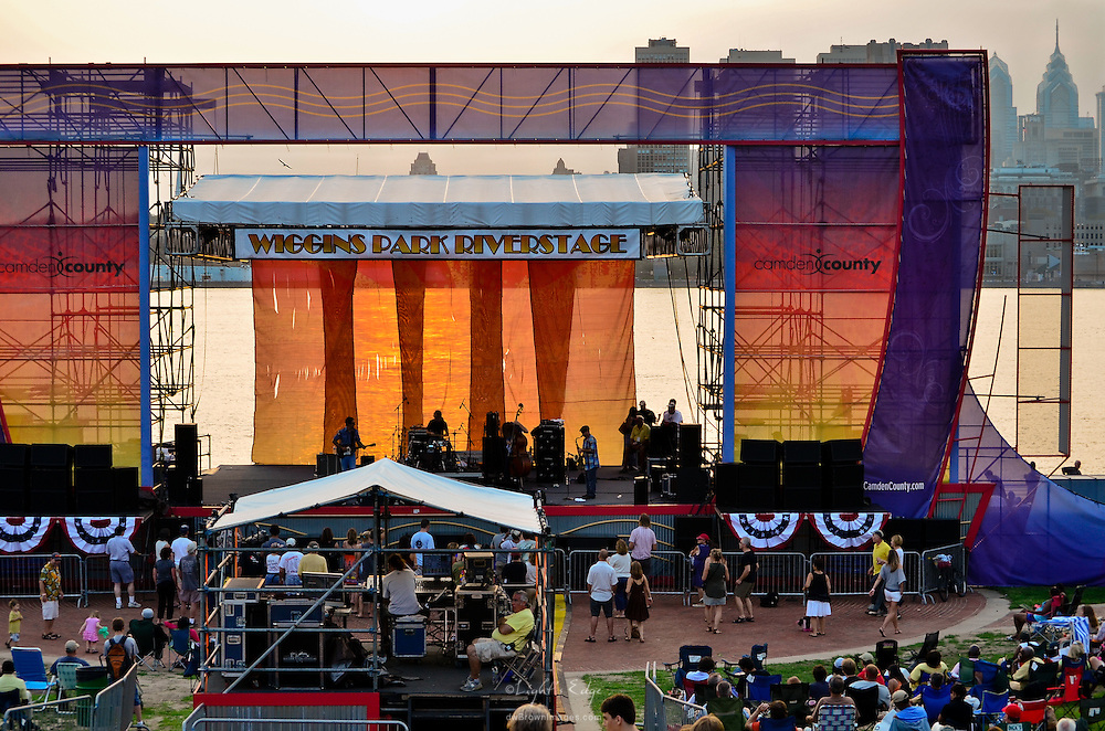 A view of the stage area of Wiggins Park during the 2011 Labor Day weekend concert.