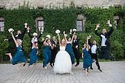 Bridal party. Bride Natalie and groom Chris Barnes marry in Napa, California.