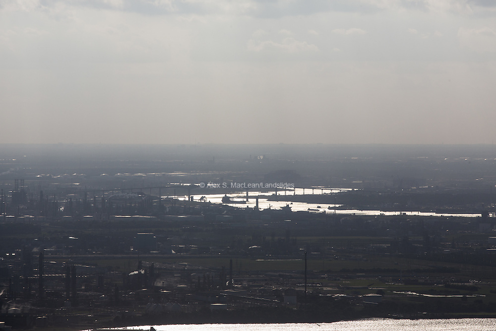 The Houston Ship Channel, a 52-mile industrial waterway that stretches between Houston and the Gulf of Mexico, is one of the most productive ports in the U.S. More than 150 industrial complexes, including some of the world's largest oil refineries, line its banks.
