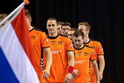 11-04-2019 NED: Netherlands - Slovenia, Almere<br /> Third match 2020 men European Championship Qualifiers in Topsportcentrum in Almere. Slovenia win 26-27 / Luc Steins #12 of Netherlands, Ivo Steins #17 of Netherlands