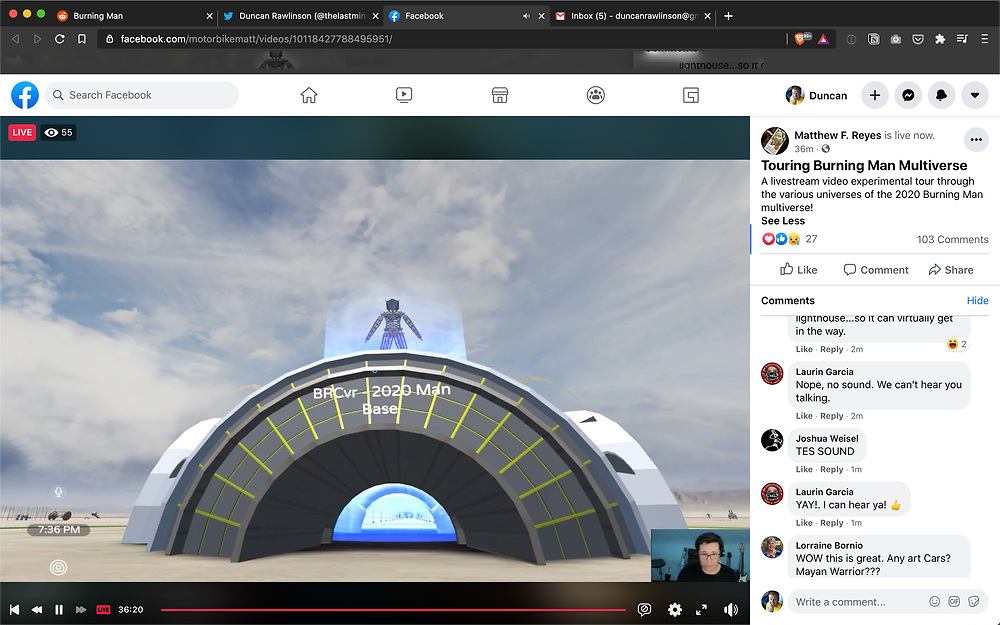 It was really cool that Motorbike Matt was being super helpful and livestreaming himself exploring the various multiverses to help other Burners. I learned quite a bit from this. Thank you Matt!