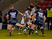 Newcastle Falcons Lock Greg Peterson during a Gallagher Premiership Round 12 Rugby Union match, Friday, Mar 05, 2021, in Eccles, United Kingdom. (Steve Flynn/Image of Sport)