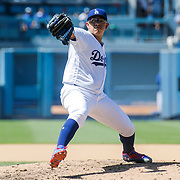 Aug 13 2016 - Los Angeles U.S. CA - LA Dodgers P # 7 Julio Urias come to the rescue to picked up the victory in relief during MLB game between LA Dodgers and the Pittsburgh Pirates 8-4 win at Dodgers Stadium Los Angeles Calif. Thurman James / CSM