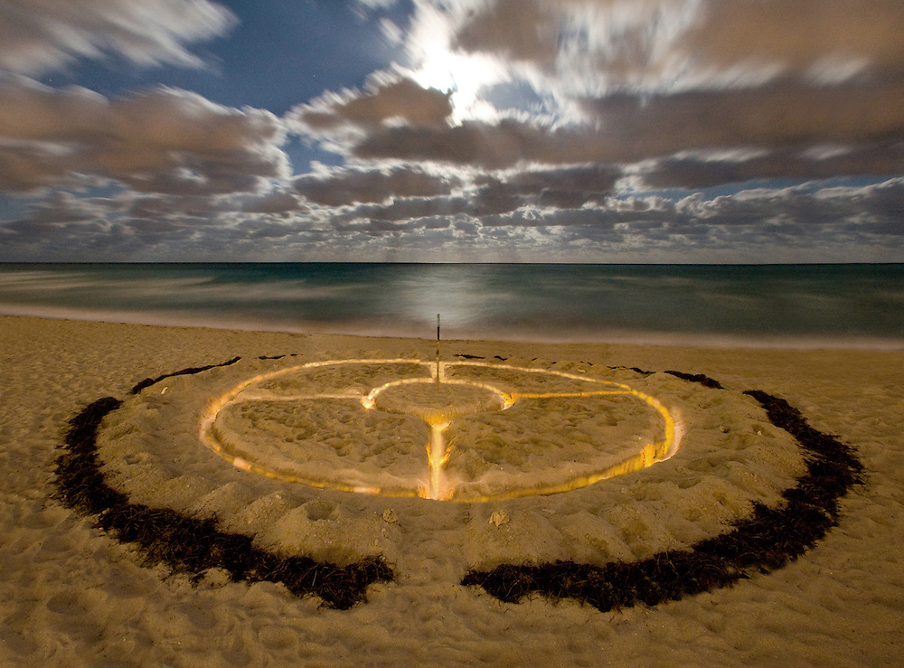 moon circle #7 earth art and photo by Robin Hill