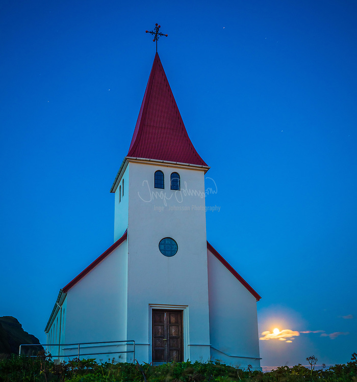 Lutheran church in Vik, Iceland