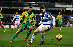 Queens Park Rangers' Luke Freeman (right) in action with West Bromwich Albion's Jake Livermore during the Sky Bet Championship match at Loftus Road, London.