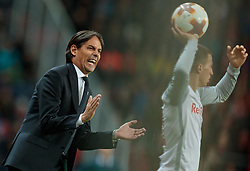12.04.2018, Red Bull Arena, Salzburg, AUT, UEFA EL, FC Salzburg vs SS Lazio Roma, Viertelfinale, Rueckspiel, im Bild Trainer Simone Inzaghi (SS Lazio Roma) // during the UEFA Europa League Quaterfinal, 2nd Leg Match between FC Salzburg and SS Lazio Roma at the Red Bull Arena in Salzburg, Austria on 2018/04/12. EXPA Pictures © 2018, PhotoCredit: EXPA/ JFK