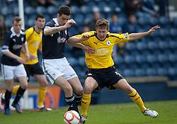 Raith Rovers Greig Spence and Falkirk's Will Vaulks..Raith Rovers 0 v 0 Falkirk, 27/4/2013..© Michael Schofield.