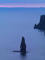 Ireland  Burren region Cliffs of Moher, night