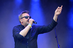 Guy Garvey of Elbow performing on the Park Stage at the Glastonbury Festival, at Worthy Farm in Somerset.